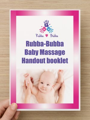 baby massage shirt and handout booklet